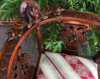 1890-1900 carved mahagony corner chairs