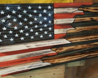 50/50 Small American flag challenge coin holder