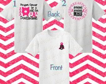 Breast Cancer Awareness Shirt Custom Woman Shirt Personalized Shirt Breast Cancer Shirt Monogram Breast Cancer Shirt Custom Man Shirt pink