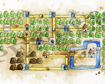 SMB3 World 1 Map