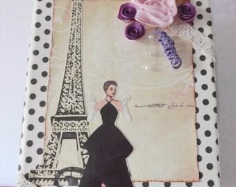 Paris - Fashion - Decor - Handmade - Mixed media