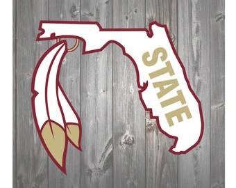 Florida State Seminoles FSU Feather SVG DXF Clip Art