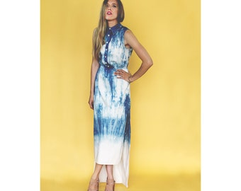 Indigo Soak Dress