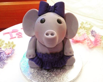 Edible Elephant Cake Topper