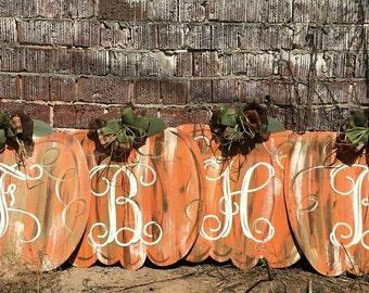 Pumpkin Door hanger Rustic