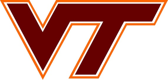 Virginia Tech Vinyl Decal Virginia Tech Logo Virginia Tech