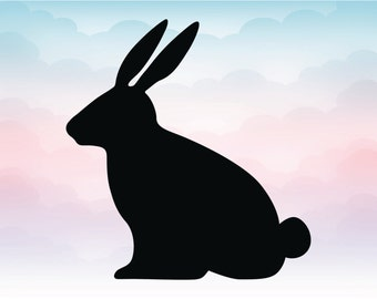 Easter Bunny vector SVG file, Instant download easter bunny cutting machine file, Rabbit EPS Adobe illustrator, Spring is coming download