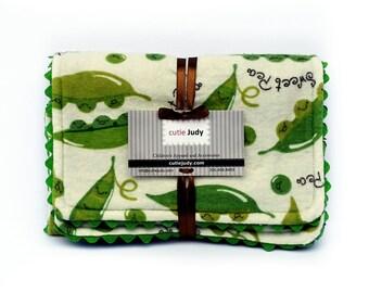 Burp Cloth Set (Sweet Pea) - Baby Shower Gift Infant Preemie Newborn Feeding Drool Neutral