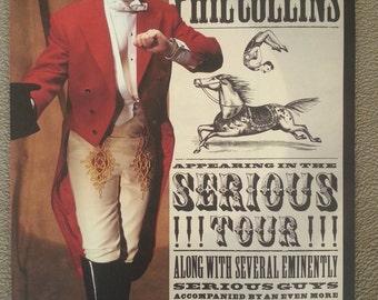 Phil Collins Serious Tour - concert program