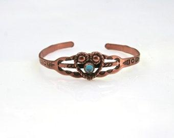 Vintage Child's Turquoise Cuff Bracelet