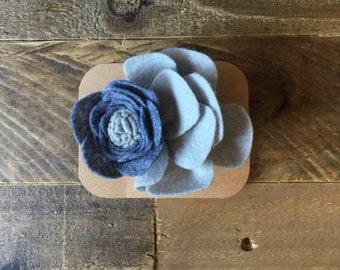 Gray felt flower headband