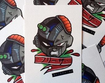 Dragonball Z Mecha Freeza A5 print