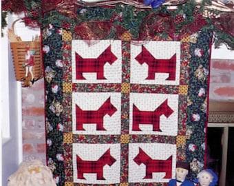 Scotties Believe in Santa Too! quilt pattern PDF DOWNLOAD