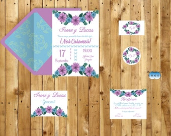 Printable wedding invitation more cards / Printable wedding invitation cards more