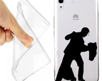 Case cover romantic dance for huawei y6 transparent