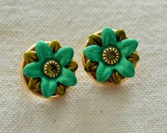 Vintage Flower Earrings by Michal Golan