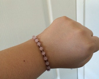 Pink and Magenta Beaded Bracelet
