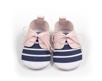 Shoe baby Nautic Strawberry