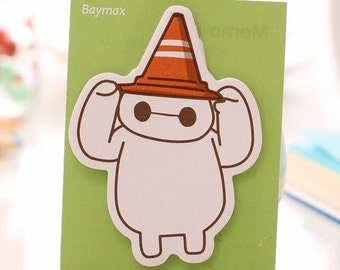Baymax from Big Hero 6  Sticky note / post it note / Memo pad