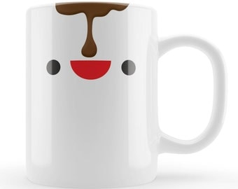 Novelty Coffee Mug gift, Kawaii coffee drip character funny mug gift UK, Unique gift idea for birthdays. Mum, friend, brother, sister, dad