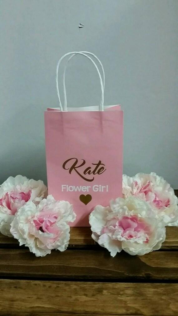 Small Personalised Wedding Gift Bags : Small Bridesmaid Gift Bag, Personalized Gift Bag, Party Favor, Bridal ...