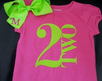 Birthday shirt and bow