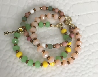 Handmade Colorful triple bracelet