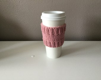 Cup sleeve/ Coffee Cup Sleeve / Tea Cup Sleeve/ Cup Cozy/ Knitted cup cozy/ Reusable cup sleeve/ Gift for him. Gift for her.
