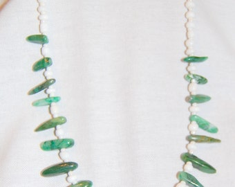 Agate Glass Bead Necklace