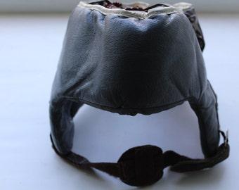 Soviet Boxing headgear, Vintage Boxing headgear, Soviet boxing helmet, Soviet headgear. Box. Sport. Soviet Leather headgear