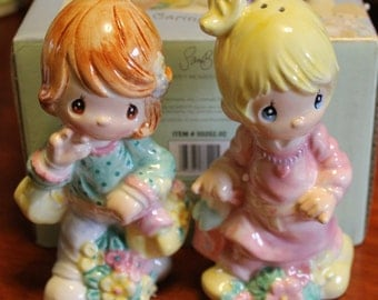 Vintage precious Moments salt and pepper shakers