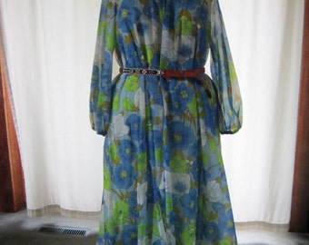 Flower Power Muumuu Maxi Dress