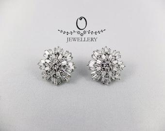Modern Snowflake Earrings