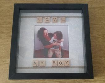 "Personalised ""Family"" Scrabble Tile Photo Frame"