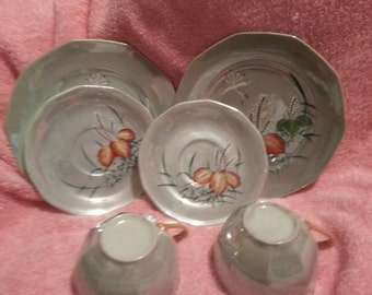 Marked Down, Need to sale!  Beautiful Handprinted Trico Japanese made Fine china