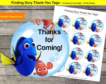 Finding Dory Thank-You Tags