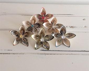 Vintage, Paper, Flowers, Paper, Flowers