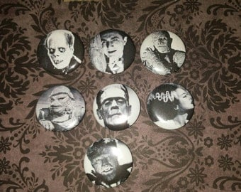 7 Universal Monsters button set