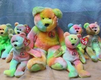 Vintage small Tie Dye Bear 1996