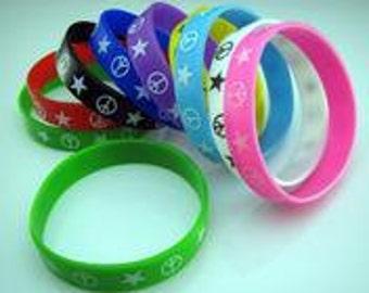 Peace Silicone Bracelet Wristband