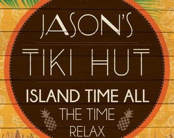 Custom Tiki Hut Sign Digital Download
