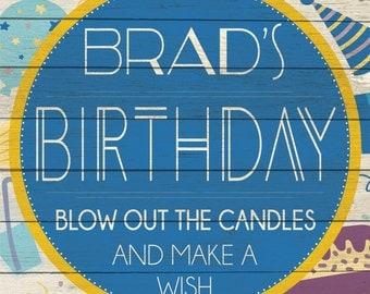 Custom Birthday Boy Sign Digital Download