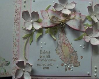 hand made greetings card....baby girl