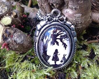 Alice in Wonderland Silhouette Pendant