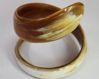 Horn bracelets  - Horn cuff - Buffalo horn jewelry - KAI-3676