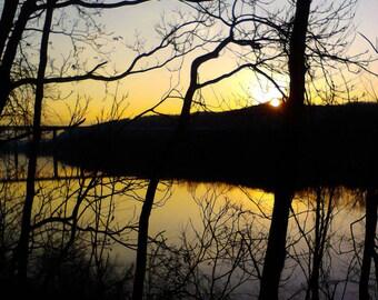 Beautiful Sunset  photo , reflection photo, sunset reflection photo, nature photography, sunset photography, tree photography