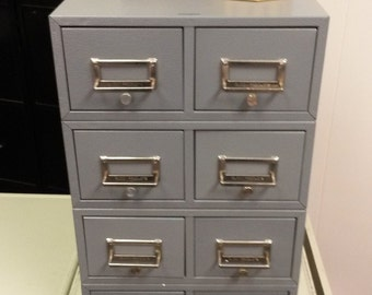 Index card file drawer sections, Buddy Products, Metal drawers