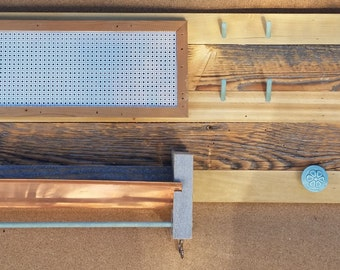Reclaimed Wood Jewelry Board with Copper Tray