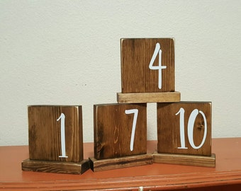 Double Sided Table Numbers, Wedding Table Numbers, Wooden Table Numbers, Table Numbers, Rustic Wedding, Block Table Numbers, Shabby Chic
