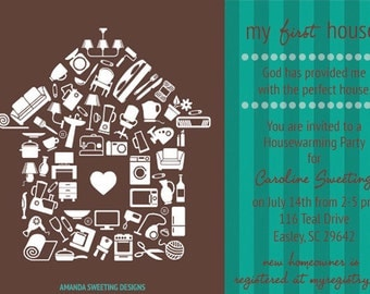 Lovely Home - Housewarming Party Invitation
